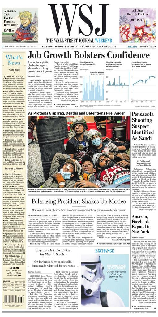《The Wall Street Journal(WSJ)》2019年12月07-08日(华尔街日报)【PDF】