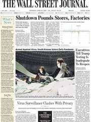 《The Wall Street Journal(WSJ)》2020年04月16日(华尔街日报)【PDF】