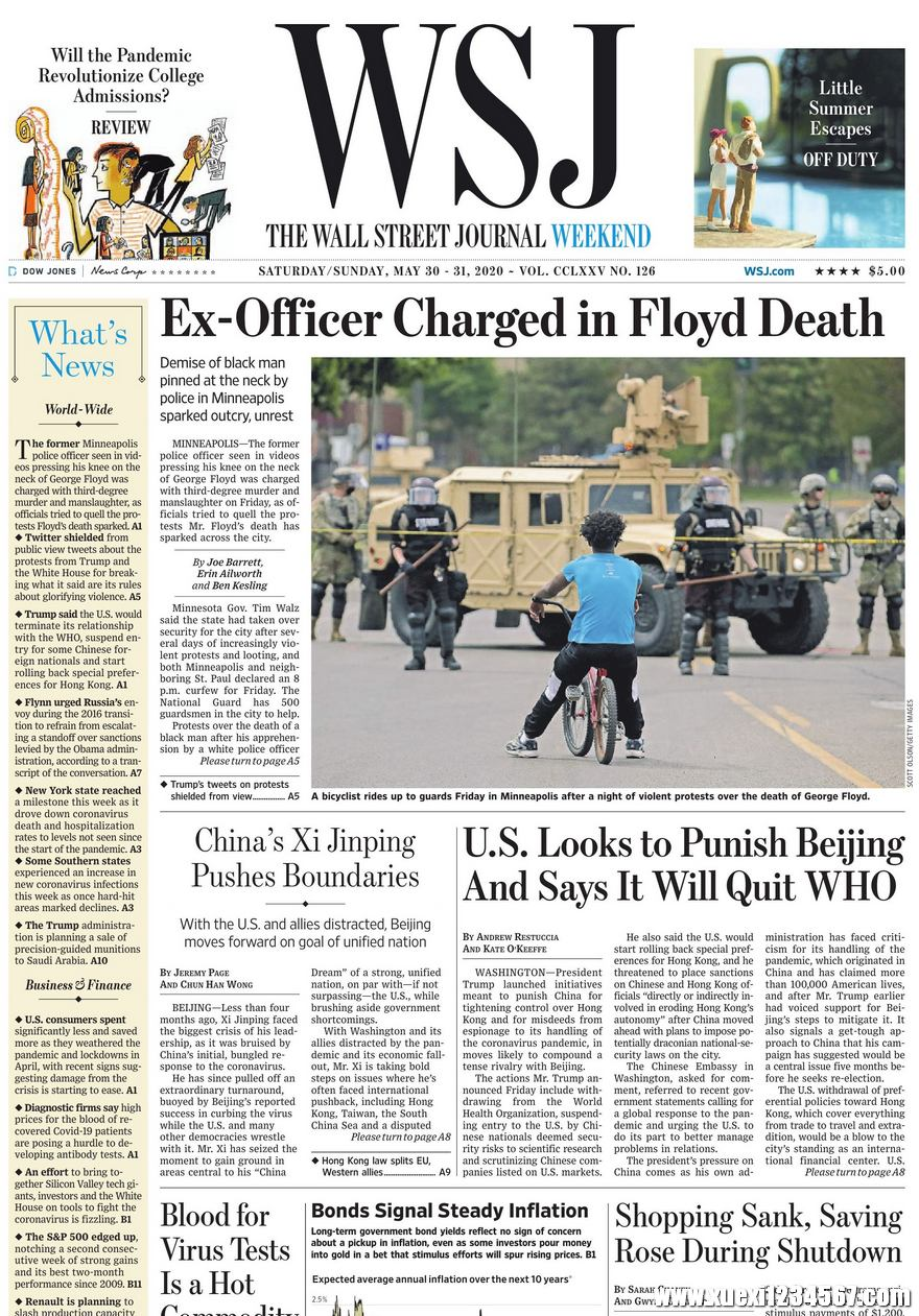 《The Wall Street Journal(WSJ)》2020年05月30&31日(华尔街日报)【PDF】