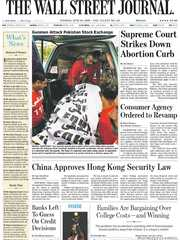 《The Wall Street Journal(WSJ)》2020年06月30日(华尔街日报)【PDF】