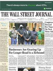 《The Wall Street Journal(WSJ)》2020年07月20日(华尔街日报)【PDF】