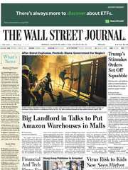 《The Wall Street Journal(WSJ)》2020年08月10日(华尔街日报)【PDF】