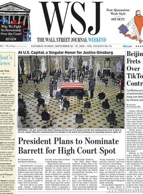 《The Wall Street Journal(WSJ)》2020年09月26&27日(华尔街日报)【PDF】