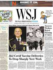 《The Wall Street Journal(WSJ)》2021年04月10&11日(华尔街日报)【PDF】