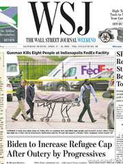 《The Wall Street Journal(WSJ)》2021年04月17&18日(华尔街日报)【PDF】